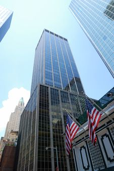 Free Skyscrapers And American Flags Of New York Stock Images - 14897824