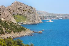The Black Sea Seacost In Ukraine Royalty Free Stock Photography