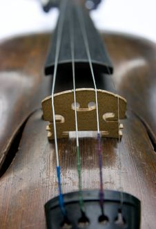 Old Violin Stock Photography