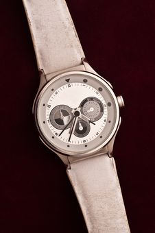 Used Silver Watch Stock Photo