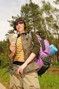 Free Woman With A Backpack Stock Photos - 1495943