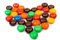Free Colorful Candies Heart Royalty Free Stock Photography - 1496207