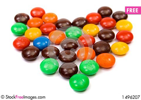 Colorful candies heart Stock Photo