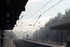 Free Misty Railway Stock Photography - 1490682