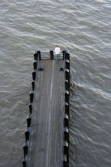 Free Pier Man Royalty Free Stock Photography - 1490707