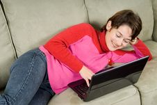Free Lying On Couch Stock Photos - 1491793