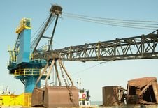 Free Big Crane On Ship In Port Stock Photos - 1491883