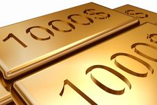 Free Gold With Stamping Dollar Stock Images - 1492394