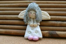 Silver Haired Shy Angel Royalty Free Stock Photo