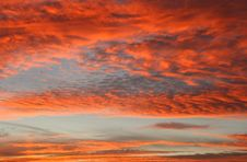 Free Sky On Fire Stock Photography - 1493882