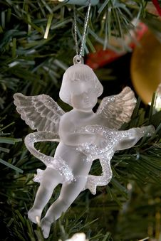 Free Crystal Angel Christmas Decoration Stock Photos - 1494503