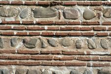 Ancient Brick Wall Royalty Free Stock Image