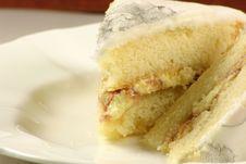 Jam Sponge Cake Stock Photo