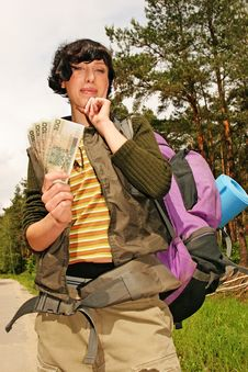Free Woman With A Backpack Stock Photo - 1495970