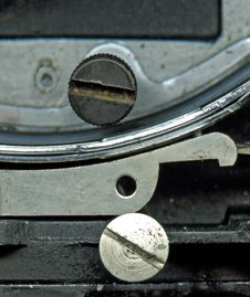 Free 16mm Movie Camera Mechanism Closeup Royalty Free Stock Photos - 1495978