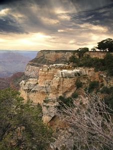 Grand Canyon Late Afternoon Stock Photography