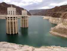 Free Hoover Dam Back Stock Image - 1497851