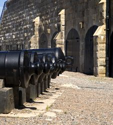 Historic Fort Cannons Stock Photography