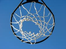 Free New Basketball Hoop And The Blue Sky Stock Images - 1498274