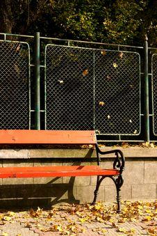Free Orange Bench Stock Image - 1498461