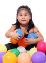 Free Girl And Balloons Stock Photo - 14901270