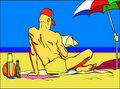 Free Man On The Beach Royalty Free Stock Photo - 14901545