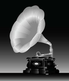 Free Gramophone. Royalty Free Stock Image - 14900486