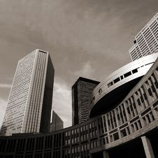 High-rises And Modern Buildings In Tokyo Royalty Free Stock Image