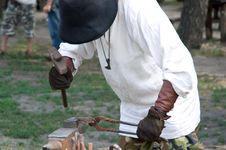 Free Blacksmith At Work Royalty Free Stock Image - 14902196