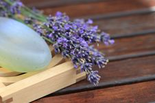 Free Lavender And Soap Stock Photography - 14902572