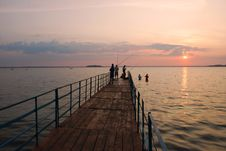 Free Morning On A Pier. Royalty Free Stock Image - 14903806