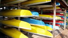Free Canoes Under The Shade Stock Photo - 14904170