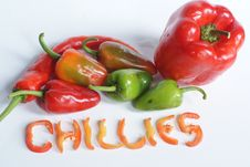 Free Chillies Stock Images - 14904254