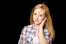Free Young Happy Blond Female, Portrait, Isolated Royalty Free Stock Photos - 14904918