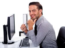 Free Young Business Man At The Office Royalty Free Stock Photos - 14905418