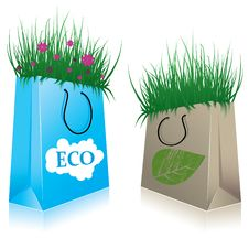 Free Eco Shopping Bags. Royalty Free Stock Photography - 14905557
