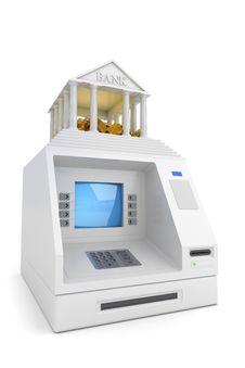 Free Cash Machine Royalty Free Stock Image - 14906096
