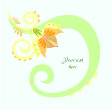 Congratulatory Card With Flower Royalty Free Stock Photography