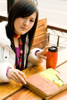 Beautiful Girl Sitting On Bench Stock Photos