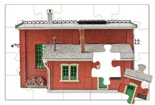 Free Jigsaw House Royalty Free Stock Images - 14907639