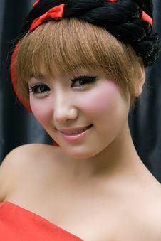 Beautiful Girl With Perfect Sweet Makeup Stock Photos