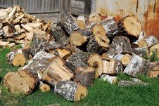 Free Pile Of Firewood Royalty Free Stock Photography - 14908407
