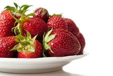 Strawberry On A Dish Stock Photos