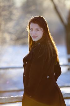 Free Winter Portrait Of Teenage Girl Stock Photos - 14909413