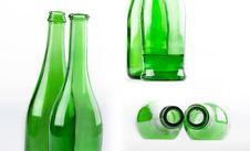 Free Green Wine Bottle Views Royalty Free Stock Photo - 14909565