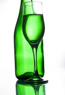 Free Green Bottle And Glass Stock Images - 14909594
