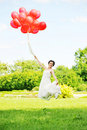 Free Bride  With Balloons Royalty Free Stock Photos - 14910558