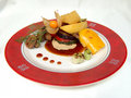 Free Pork Chop With Grilled Vegetables. Royalty Free Stock Photography - 14910637
