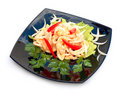 Free Hot Salad With Seafoods. Stock Image - 14910791