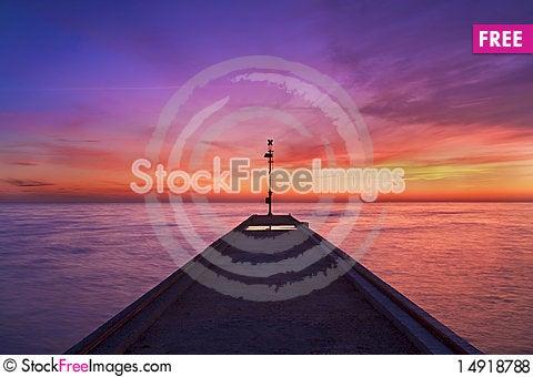 Free Pier At Sunset Royalty Free Stock Photos - 14918788